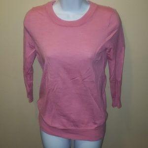 J. Crew Pink heathered Merino wool sweater small